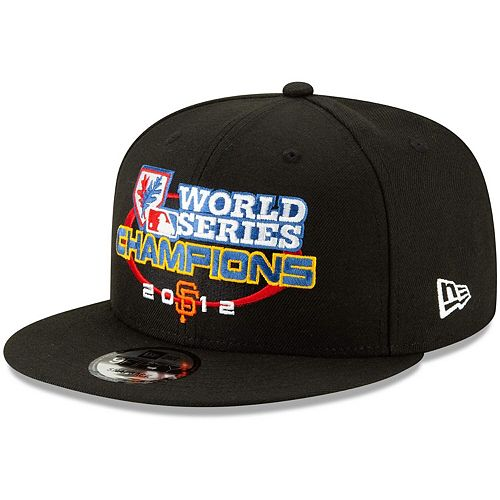 Men's New Era Black San Francisco Giants World Series Champions Flashback 9FIFTY Adjustable Snapback Hat