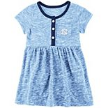 Girls Newborn & Infant Colosseum Carolina Blue North Carolina Tar Heels Nuess Henley Dress