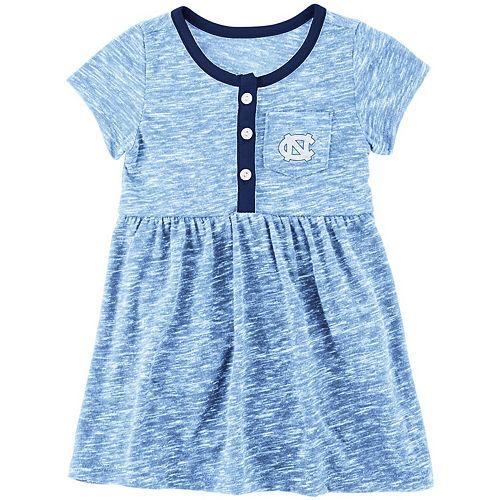 Girls Newborn & Infant Colosseum Carolina Blue North Carolina Tar Heels Nuess Henley Dress