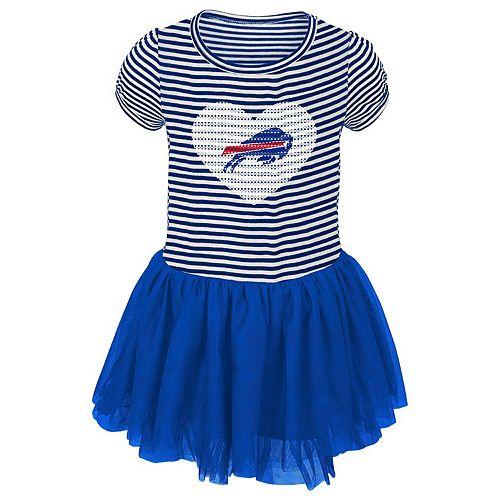 Girls Toddler Royal/White Buffalo Bills Celebration Tutu Sequins Dress