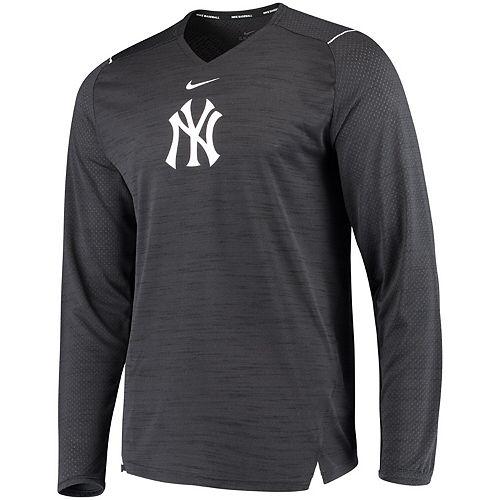 Men's Nike Navy New York Yankees AC Breathe Long Sleeve Performance T-Shirt
