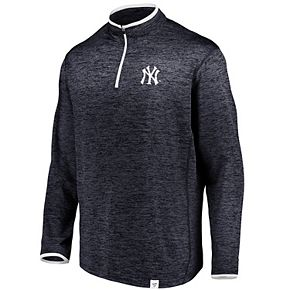 Men's Fanatics Branded Navy New York Yankees Quarter-Zip Jacket