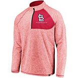 Men's Fanatics Branded Red St. Louis Cardinals Made 2 Move Quarter-Zip Jacket