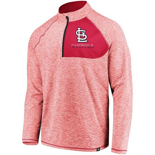 Men's Fanatics Branded Red St. Louis Cardinals Made 2 Move Quarter-Zip Jacket