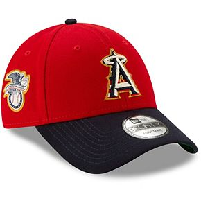 Men's New Era Red/Navy Los Angeles Angels 2019 Stars & Stripes 4th of July 9FORTY Adjustable Hat