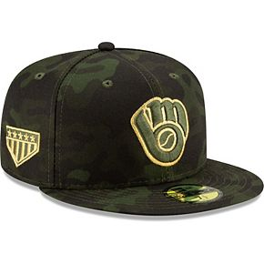 Milwaukee Brewers New Era 2019 MLB Armed Forces Day On-Field 59FIFTY Fitted Hat - Camo