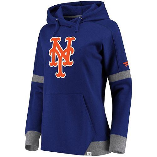 Women's Fanatics Branded Royal/Gray New York Mets Iconic Fleece Pullover Hoodie