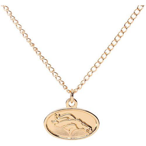 Women's WinCraft Gold Denver Broncos Logo Necklace