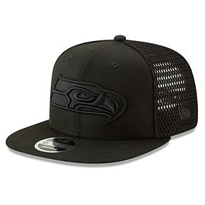 Men's New Era Black Seattle Seahawks Mesh Fresh Tonal 9FIFTY Adjustable Snapback Hat