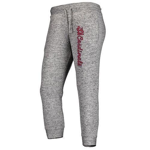 Women's Fanatics Branded Heathered Gray St. Louis Cardinals Cozy Steadfast Jogger Pants