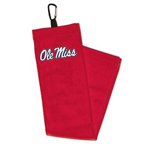 WinCraft Ole Miss Rebels Embroidered Golf Towel with Carabiner