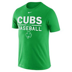 Men's Nike Green Chicago Cubs Practice Performance T-Shirt