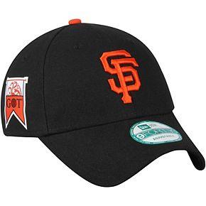 Men's New Era Black San Francisco Giants Game of Thrones 9FORTY Adjustable Hat