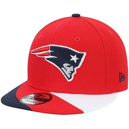 Men's New Era Red New England Patriots Curve 9FIFTY Adjustable Snapback Hat