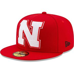 Men's New Era Scarlet Nebraska Cornhuskers Threads 59FIFTY Fitted Hat