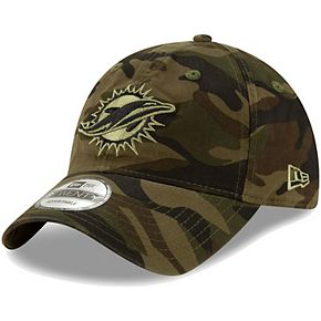 Men's New Era Camo Miami Dolphins Core Classic Woodland Camo Tonal 9TWENTY Adjustable Hat