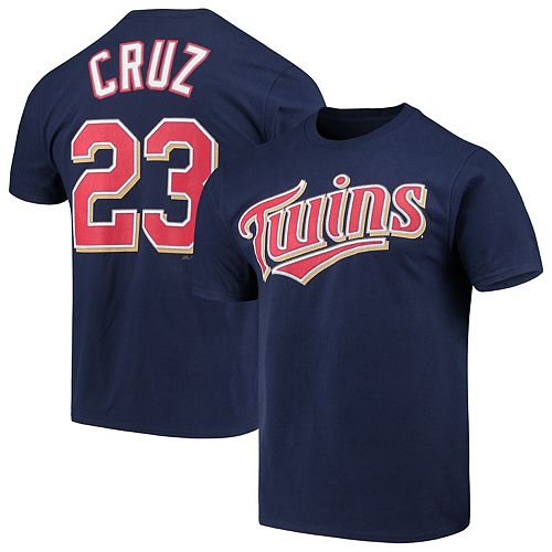 Men's Majestic Nelson Cruz Navy Minnesota Twins Official Player Name & Number T-Shirt