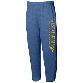 Men's Concepts Sport Navy West Virginia Mountaineers Tri-Blend Mainstream Terry Pants