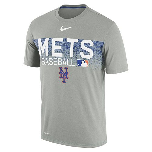 Men's Nike Gray New York Mets Authentic Collection Legend Team Issued Performance T-Shirt