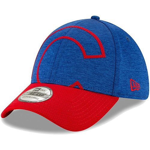 Men's New Era Royal/Red Chicago Cubs Stadium Collection Overshadow 39THIRTY Flex Hat