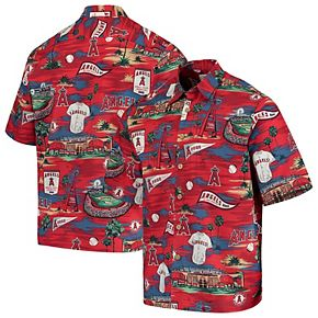 Los Angeles Angels Reyn Spooner Scenic Button-Up Shirt - Red