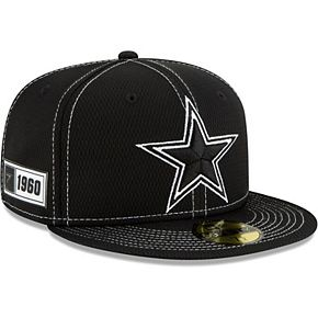 Men's New Era Black Dallas Cowboys 2019 NFL Sideline Road 59FIFTY Fitted Hat
