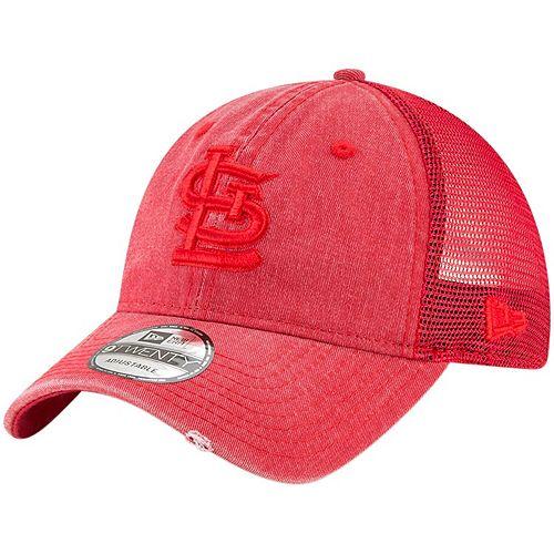 Men's New Era Red St. Louis Cardinals Tonal Washed 9TWENTY Adjustable Hat