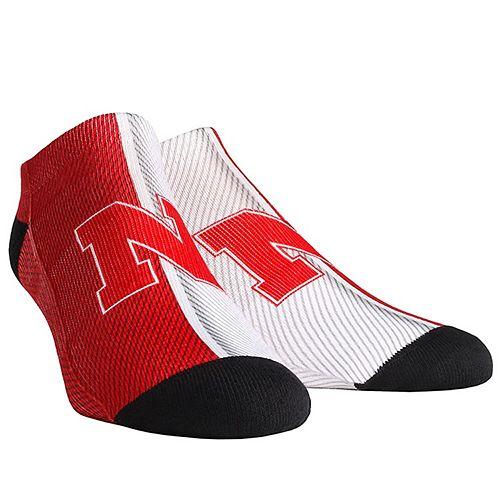 Youth Nebraska Cornhuskers Campus Stripe Ankle Socks
