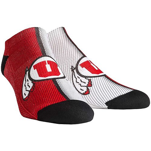Men's Utah Utes Campus Stripe Ankle Socks