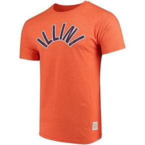 Men's Original Retro Brand Orange Illinois Fighting Illini School Logo Mock Twist T-Shirt