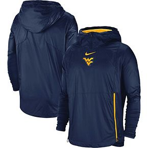 Men's Nike Navy West Virginia Mountaineers 2018 Sideline Fly Rush Pullover Jacket