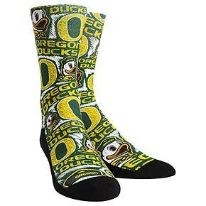 Men's Green Oregon Ducks Logo Sketch Crew Socks