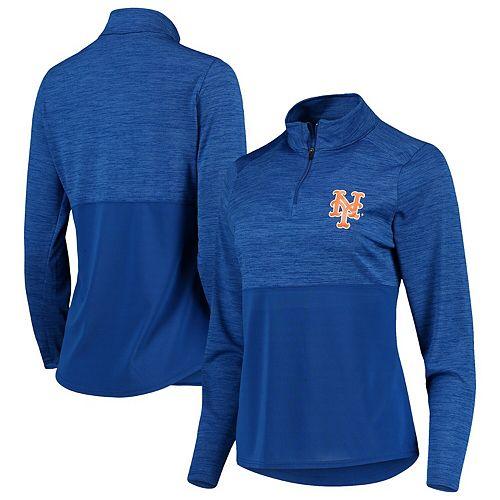Women's Fanatics Branded Royal New York Mets Quarter-Zip Pullover Jacket