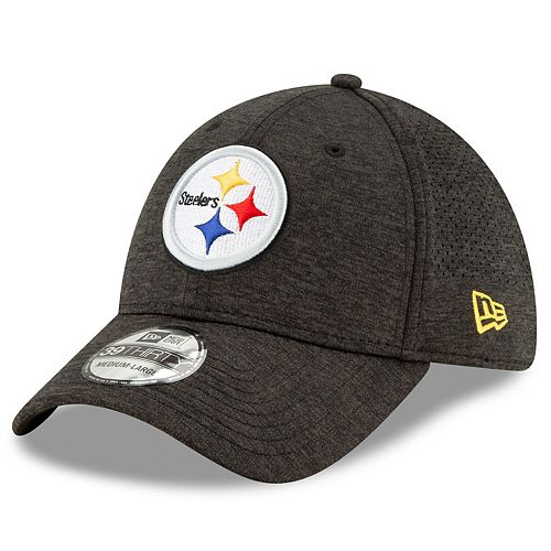 Men's New Era Pittsburgh Steelers Black STH Perf 39THIRTY Flex Hat