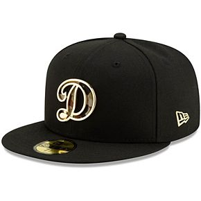 Men's New Era Black Los Angeles Dodgers Camo Metal & Thread 59FIFTY Fitted Hat