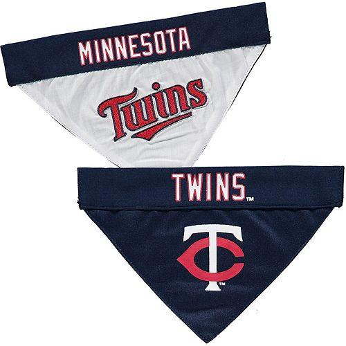 Minnesota Twins Reversible Bandana Pet Collar - Navy/White