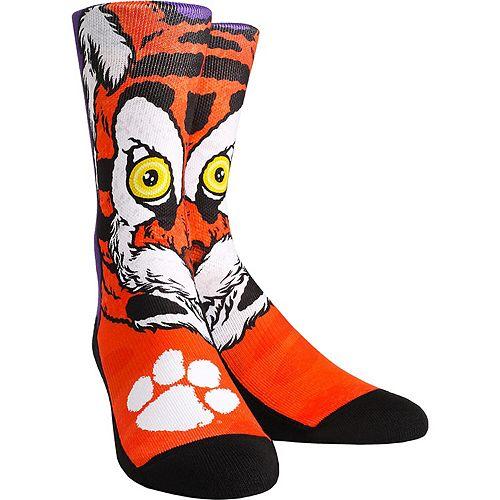 Youth Clemson Tigers Mascot & Logo Crew Socks