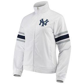 Women's G-III 4Her by Carl Banks White New York Yankees Game Score Full-Zip Track Jacket