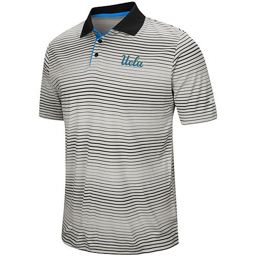 Men's Colosseum Gray UCLA Bruins Lesson Number One Polo
