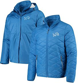Men's G-III Sports by Carl Banks Light Blue Detroit Lions Acclimation 3 In 1 Systems Jacket