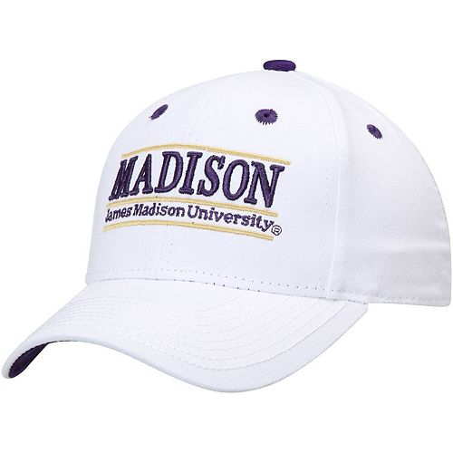 Men's The Game White James Madison Dukes Classic Bar Adjustable Snapback Hat