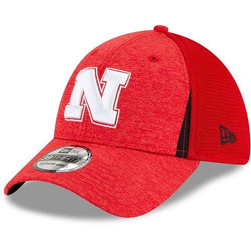 Men's New Era Scarlet Nebraska Cornhuskers Slice Neo 39THIRTY Flex Hat