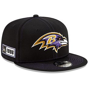 Youth New Era Black Baltimore Ravens 2019 NFL Sideline Road 9FIFTY Snapback Adjustable Hat