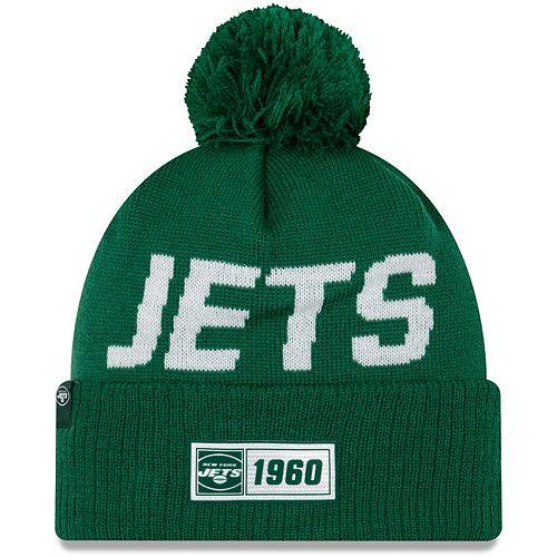 Youth New Era Green New York Jets 2019 NFL Sideline Road Sport Knit Hat
