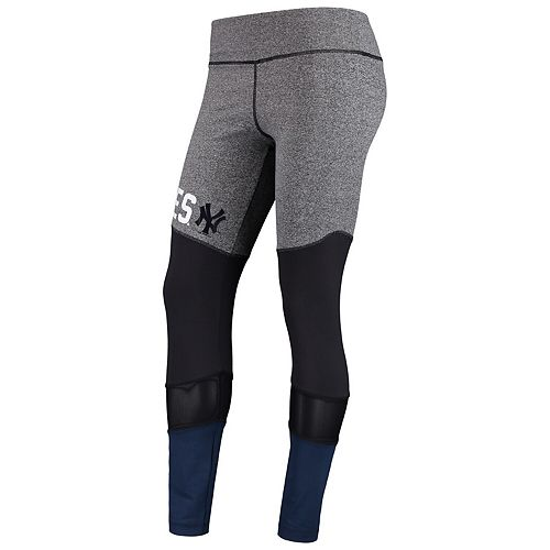 Women's G-III 4Her by Carl Banks Gray New York Yankees High Stepping Leggings