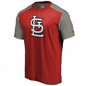 Men's Fanatics Branded Red/Gray St. Louis Cardinals Iconic T-Shirt