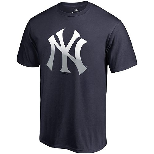 Men's Fanatics Branded Navy New York Yankees Big & Tall Gradient Logo T-Shirt