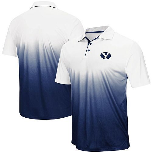 Men's Colosseum Navy BYU Cougars Magic Team Logo Polo