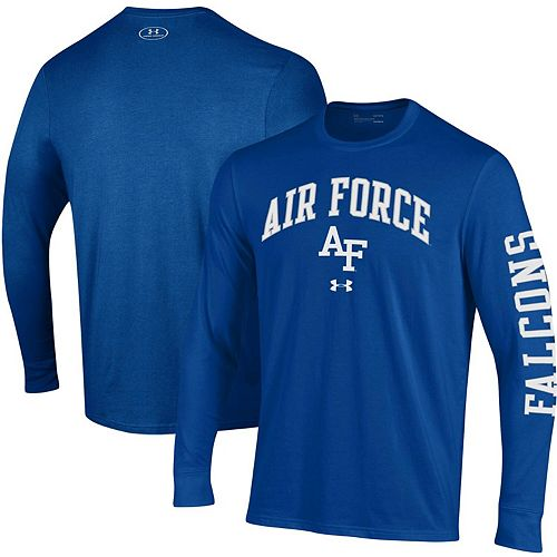 Men's Under Armour Royal Air Force Falcons Arched Two-Hit Long Sleeve Performance T-Shirt