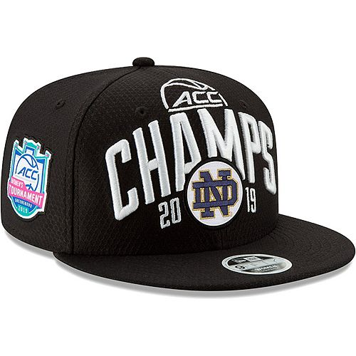 Men's New Era Black Notre Dame Fighting Irish 2019 ACC Women's Basketball Conference Tournament Champions 9FIFTY Adjustable Snapback Hat